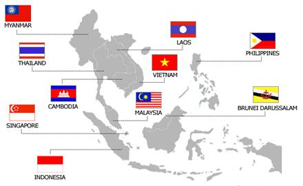 asean countries map