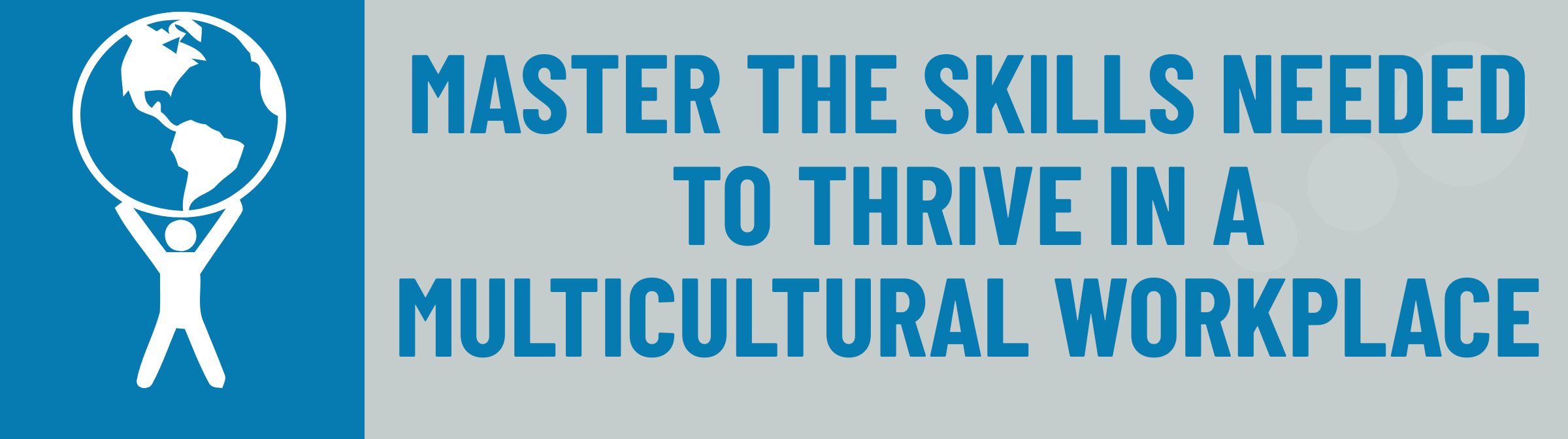 Banner: Master the Skills to Thrive in a Multicultural Workplace