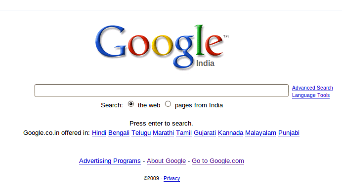googlesearchindia