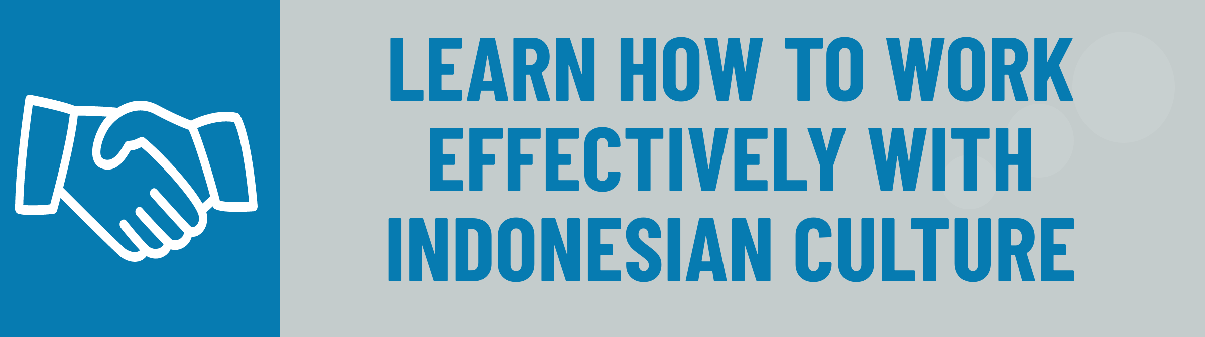 Banner: Learn to Work Effectively with Indonesian Culture