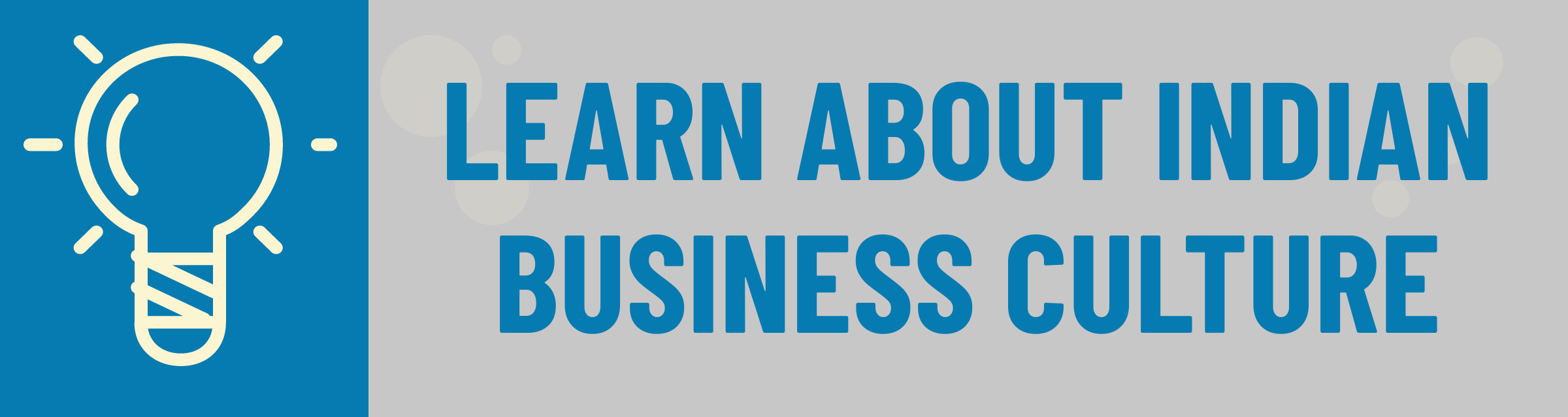 Banner: Learn About Indian Business Culture