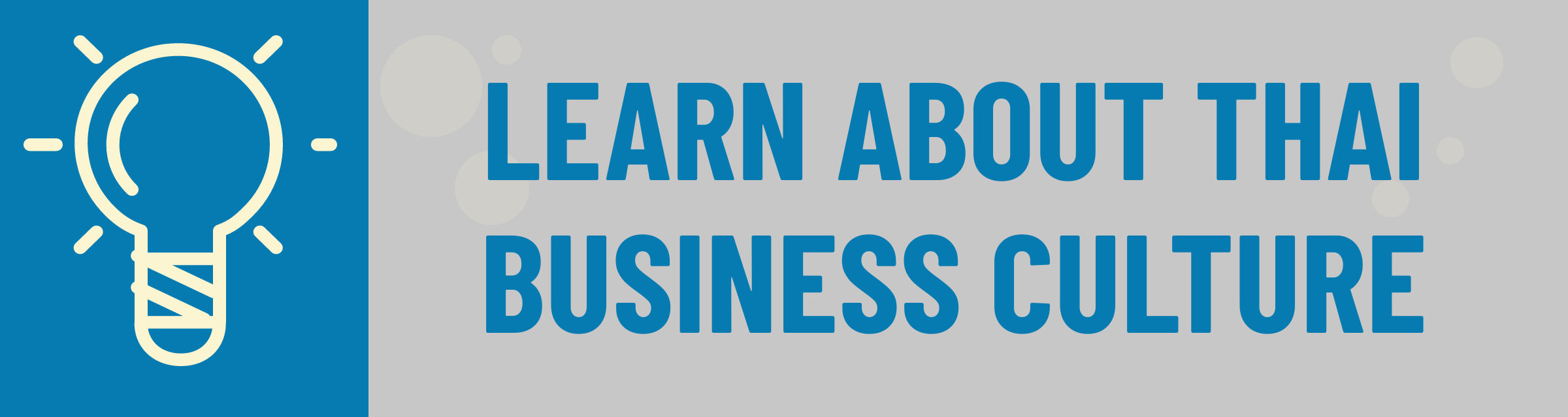 Banner: Learn About Thai Business Culture
