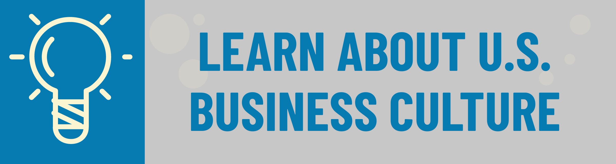 Banner: Learn About USA Business Culture