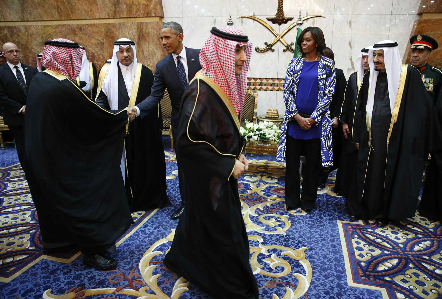 michelle obama no hijab saudi