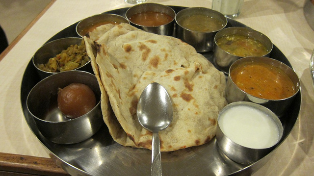 thali indian food