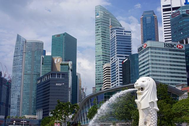 singapore hsbc fountain