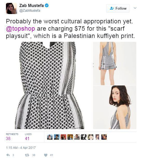 topshop appropriation palestinian culture