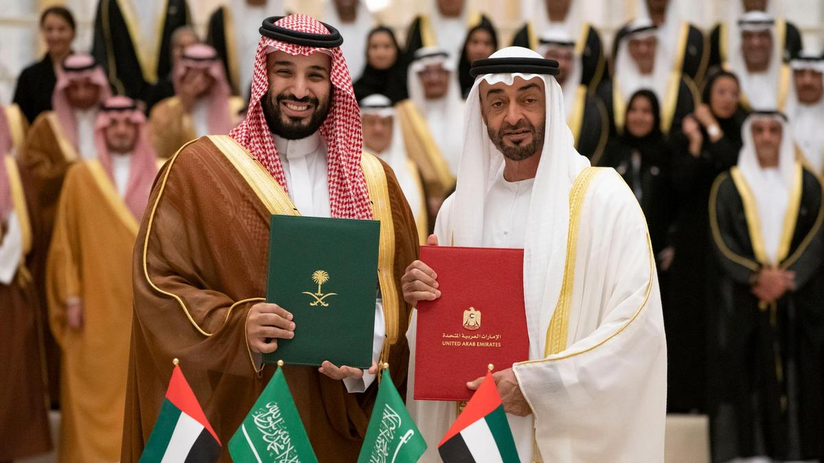 UAE & Saudi Royal Heads